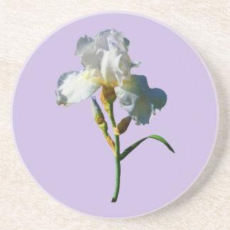 Iris blanco en sol posavaso para bebida