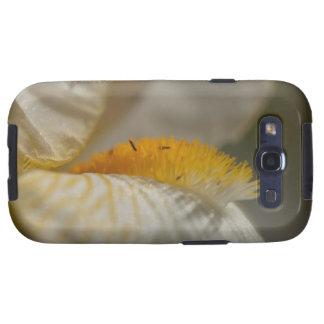 Iris blanco y amarillo galaxy s3 carcasas