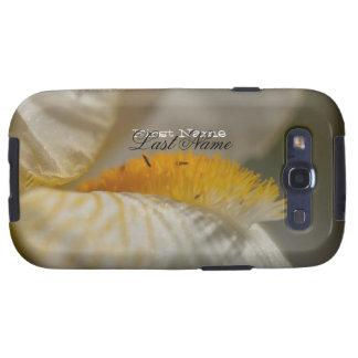 Iris blanco y amarillo; Personalizable Samsung Galaxy S3 Protectores