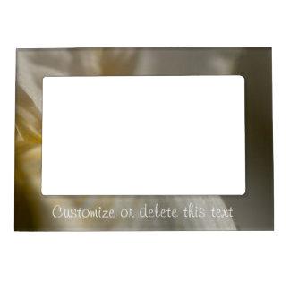 Iris blanco y amarillo; Personalizable Marcos Magneticos Para Fotos