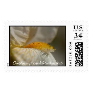 Iris blanco y amarillo; Personalizable Franqueo