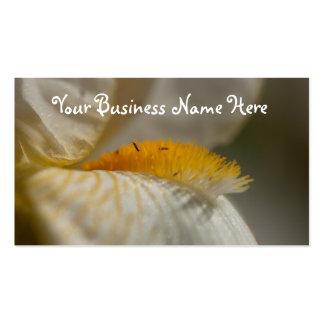 Iris blanco y amarillo; Promocional Plantilla De Tarjeta De Visita