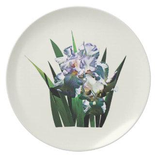 Iris blancos plato de comida