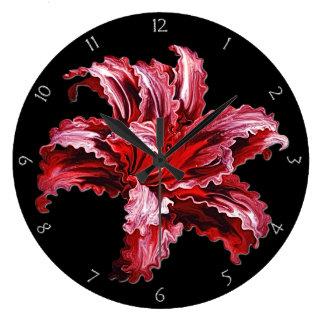 Iris Bloom Large Clock