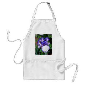 Iris ~ Blue and White Adult Apron