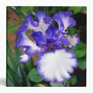 Iris ~ Blue and White  ~ Binder