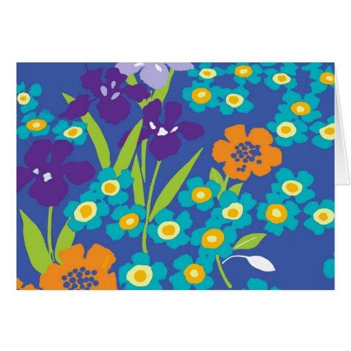 iris blue japanese iris note card