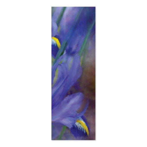 Iris Bouquet Art Bookmark Business Card Templates
