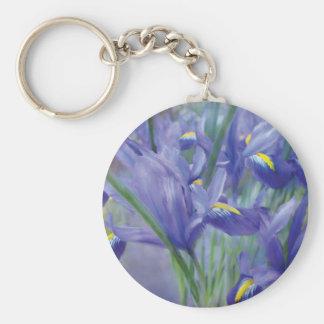 Iris Bouquet Art Keychain