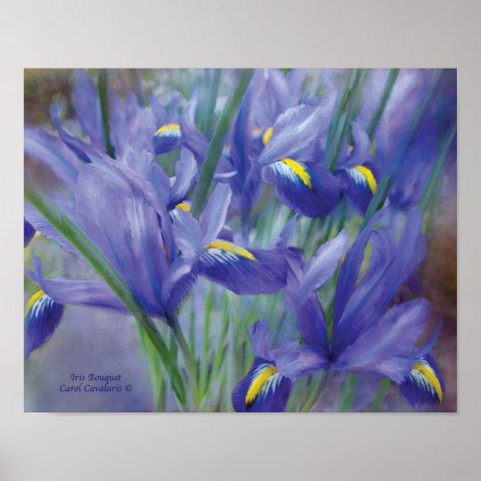 Iris Bouquet Art Poster/Print Poster