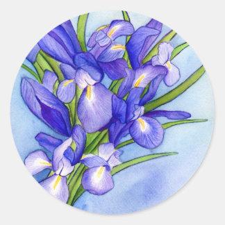 Iris Bouquet Flower Painting Sticker