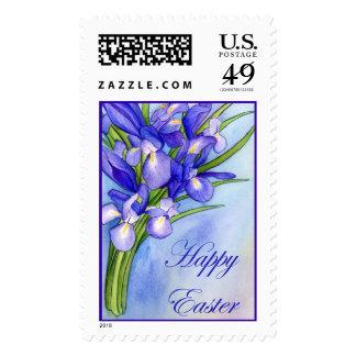 "Iris Bouquet ""Happy Easter"" Stamp"