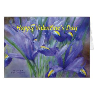 Iris Bouquet Valentine's Day ArtCard Greeting Card