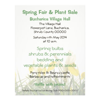 Iris bucharica plant sales or fair flyer