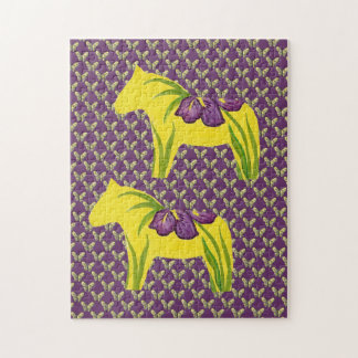 Iris Butterflies and Horses Puzzle