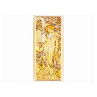 Iris by Alphonse Mucha Postcard