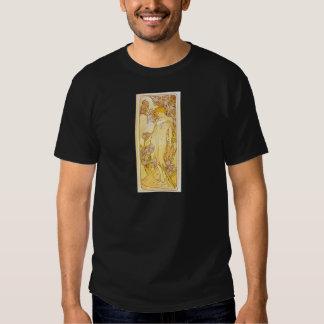 Iris by Alphonse Mucha Tee Shirt