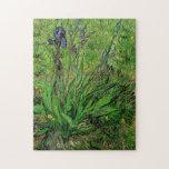 Iris by Vincent van Gogh, Vintage Impressionism Jigsaw Puzzle