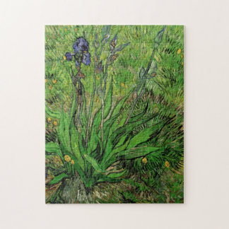 Iris by Vincent van Gogh, Vintage Impressionism Jigsaw Puzzles