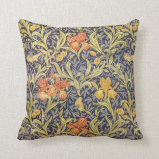 Iris by William Morris Throw Pillow