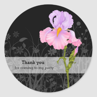 Iris * choose background color classic round sticker