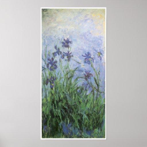 Iris, Claude Monet Póster