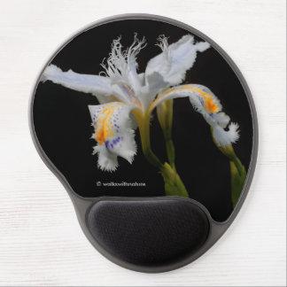 Iris con cresta alfombrillas con gel