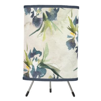 Iris Contemporary Watercolor Tripod Lamp