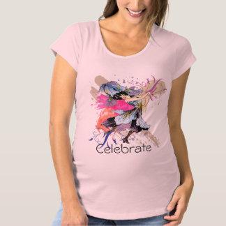 Iris Dancing Fairy Abstract Art Floral Flowers Maternity T-Shirt