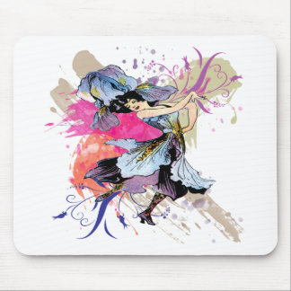 Iris Dancing Fairy Lady Vintage Abstract Art Mouse Pad