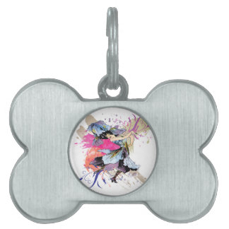 Iris Dancing Fairy Lady Vintage Abstract Art Pet Name Tag