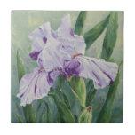 Iris de 0440 púrpuras teja cerámica