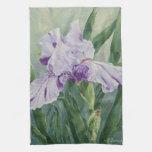 Iris de 0440 púrpuras toalla de cocina