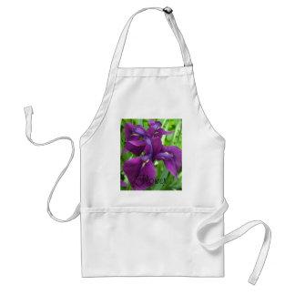 Iris de color morado oscuro delantal