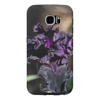 Iris de color morado oscuro fundas samsung galaxy s6