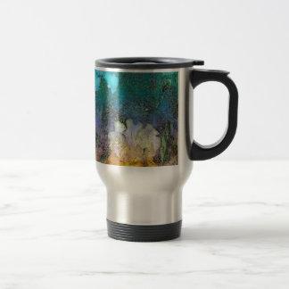 Iris de la acuarela tazas de café