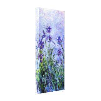 Iris de la lila de Monet Lona Envuelta Para Galerías