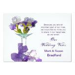 Iris de la púrpura de las invitaciones de la invitación 12,7 x 17,8 cm