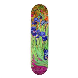 Iris de la púrpura de PixDezines Van Gogh Patin Personalizado