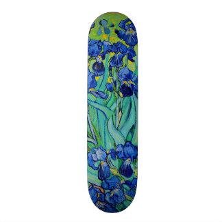 Iris de la púrpura de PixDezines Van Gogh Tablas De Skate