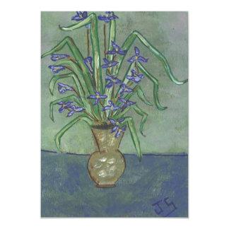 Iris de Luisiana en un jarro Comunicado