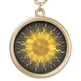 Iris de Sun del fractal - collar del fractal