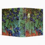 Iris de Van Gogh, arte del impresionismo del poste