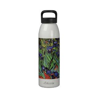 Iris de Van Gogh, arte del impresionismo del poste Botella De Agua Reutilizable