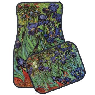 Iris de Van Gogh, arte del impresionismo del poste Alfombrilla De Coche