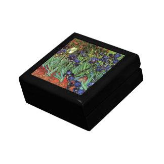Iris de Van Gogh, arte del impresionismo del poste Cajas De Joyas