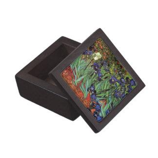 Iris de Van Gogh, arte del impresionismo del poste Cajas De Joyas De Calidad