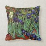 Iris de Van Gogh, arte del impresionismo del poste Almohadas