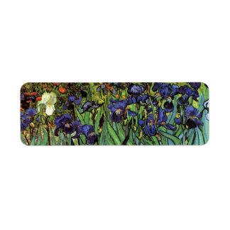 Iris de Van Gogh, arte del impresionismo del poste Etiquetas De Remite