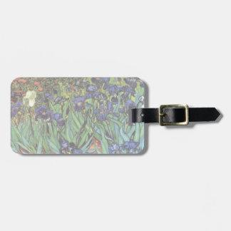 Iris de Van Gogh, arte del impresionismo del poste Etiqueta De Maleta